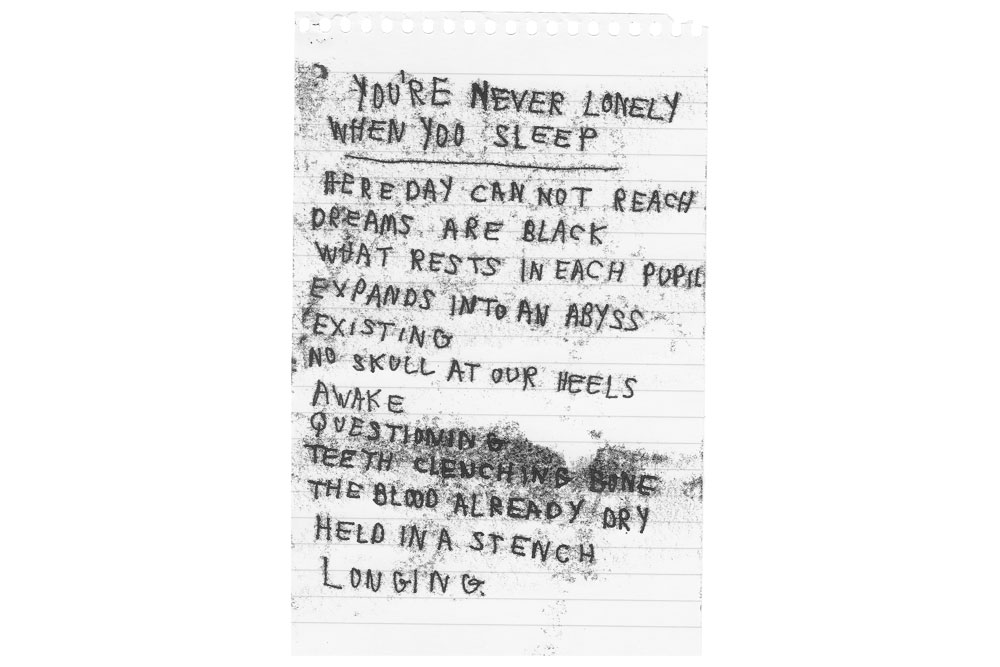 Melissa Spiccia | YOU'RE NEVER LONELY WHEN YOU SLEEP POEM MONOTYPE MELISSA SPICCIA