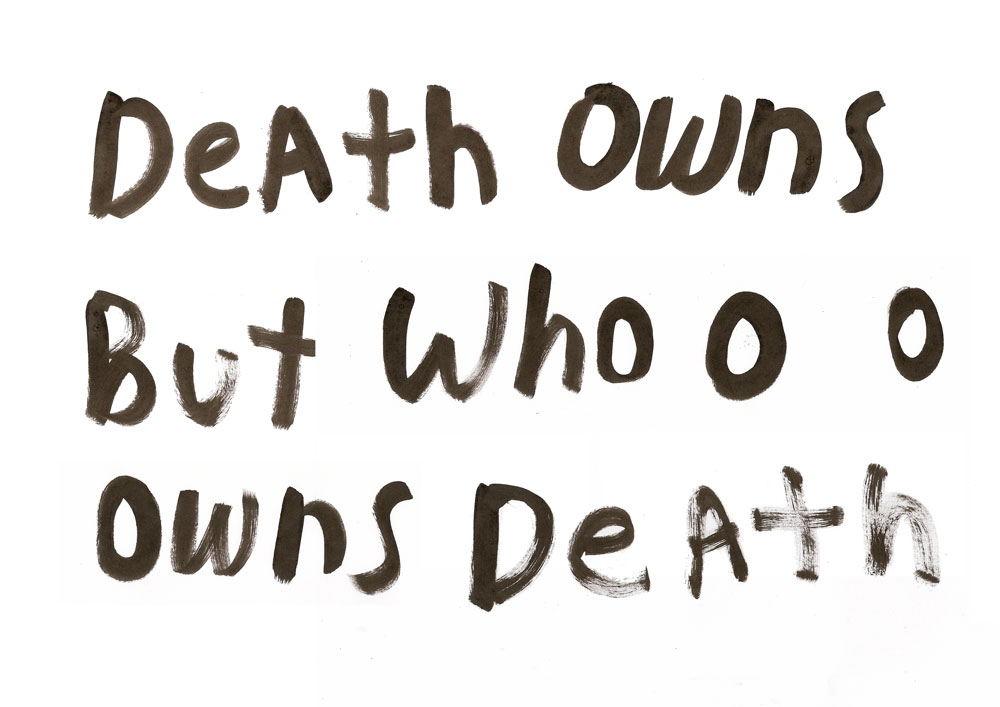 Melissa Spiccia | CONVERSATIONS WITH DEATH DEATH OWNS MELISSA SPICCIA