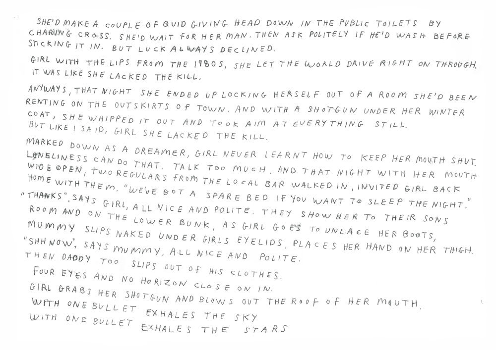 Melissa Spiccia | SEE FLOWERS IN HELL RICE STORM POEM PAGE 1 MELISSA SPICCIA